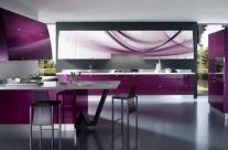 cocina de diseño fucsia Humanes