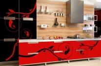 cocina de diseño vectorial roja Humanes