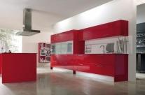 cocina diseño rojo Humanes