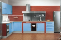 cocina diseño azul Humanes
