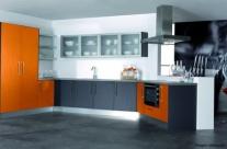 cocina de diseño naranja Humanes