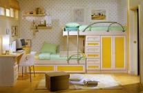 dormitorio juvenil pino dkp-amarillo Humanes