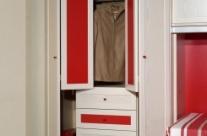 dormitorio juvenil pino dkp-rojo Humanes