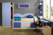 dormitorio juvenil haya-azul Humanes