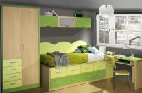 dormitorio juvenil haya-pistacho-verde Humanes