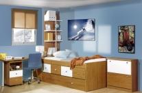 dormitorio juvenil cerezo-blanco Humanes