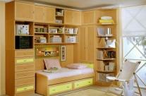 dormitorio juvenil haya-pistacho Humanes