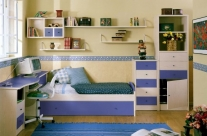 dormitorio juvenil pino dkp-azul Humanes