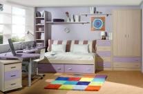 dormitorio juvenil roble-lila Humanes
